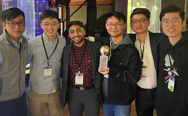 Baruch College students from the Master of Financial Engineering program won first place at the 2020 Rotman International Trading Competition.